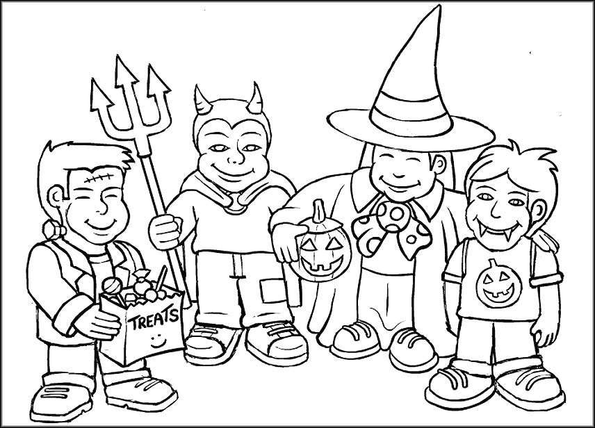 856x616 Halloween Colouring Pages For Kids Free Printables