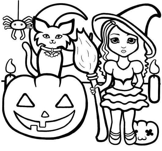 530x494 Preschool Coloring Pages Halloween