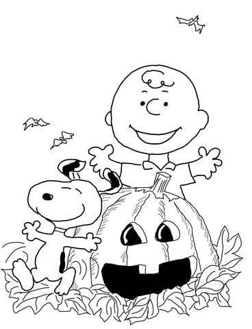 368x480 Charlie Brown Halloween Coloring Page Free Printable Coloring