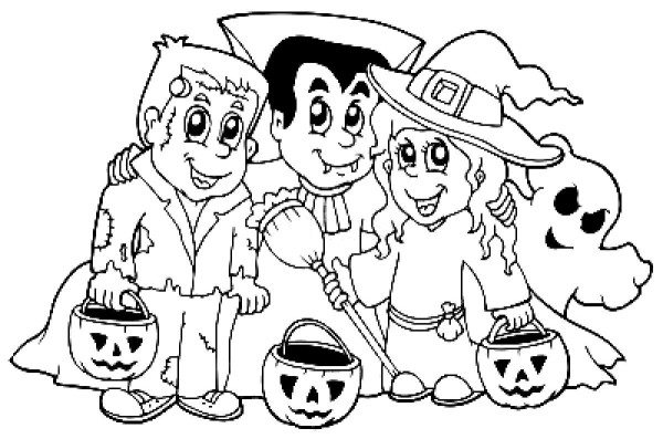600x397 Halloween Coloring Pages For Toddlers