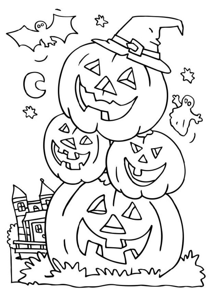 Halloween Coloring Pages Online at GetDrawings.com   Free for ...