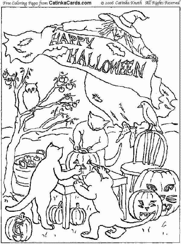 600x810 Halloween Coloring Pages, Pictures, Fun Stuff, And Links