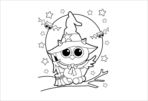 585x400 Halloween Coloring Pages Pdf