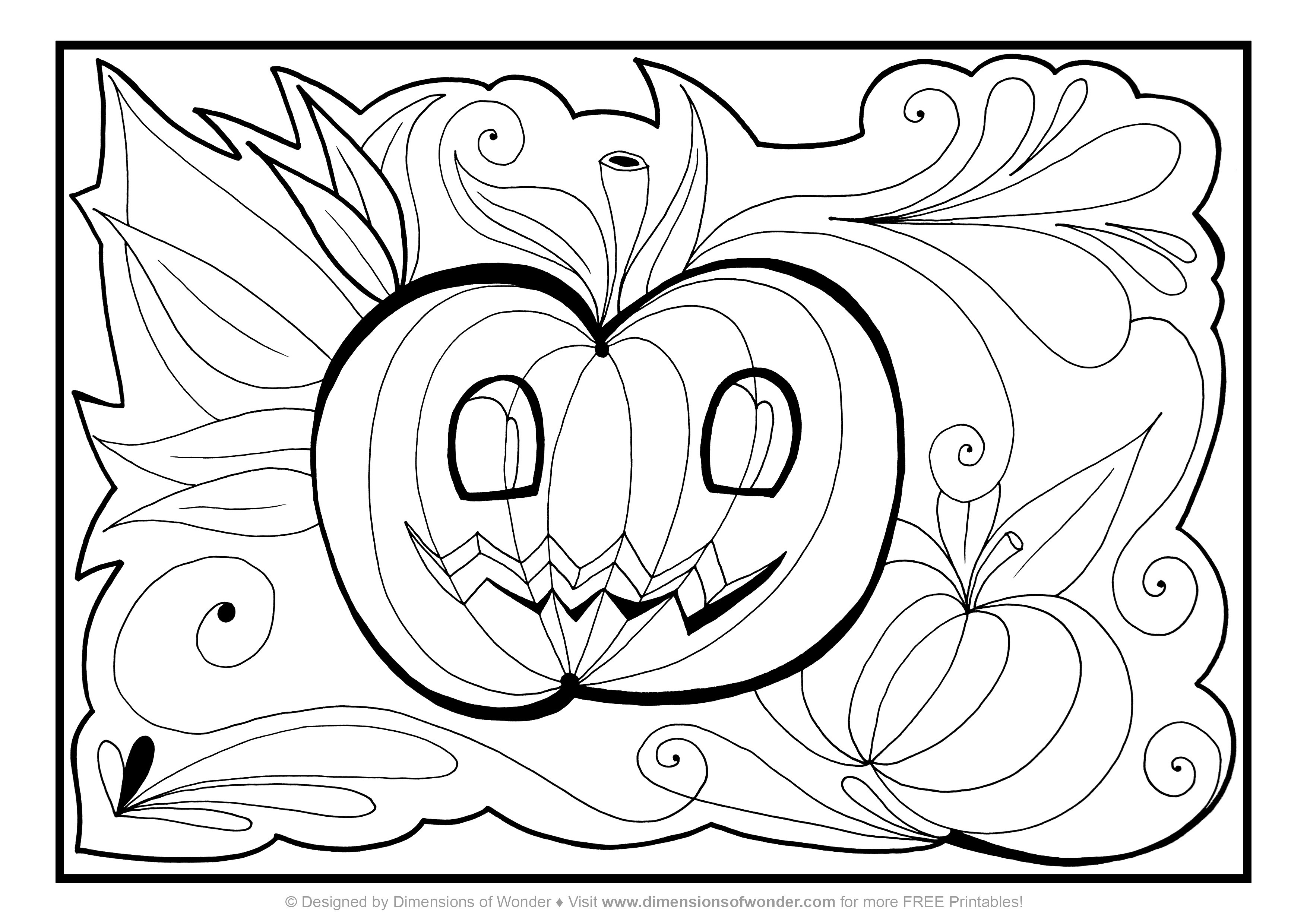 3508x2480 Halloween Coloring Pages Pdf