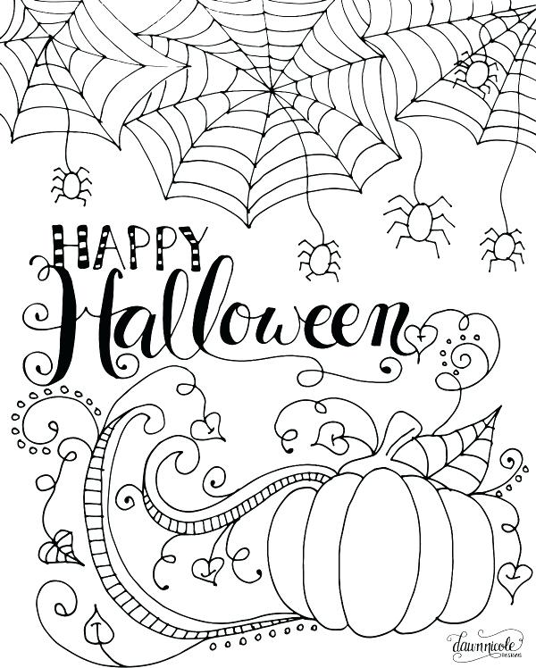600x748 Printable Halloween Coloring Pages Free Printable Trick Or Treat