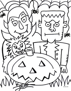250x321 Free Pdf Halloween Coloring Page!
