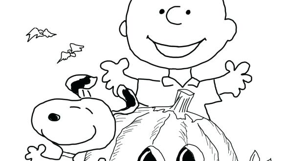 585x329 Free Halloween Coloring Page Coloring Page Charlie Brown Free