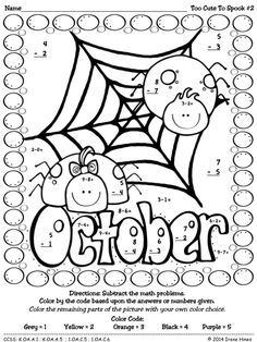236x314 Addition Coloring Sheets Halloween