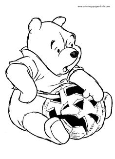 Halloween Coloring Pages Winnie The Pooh At Getdrawingscom Free