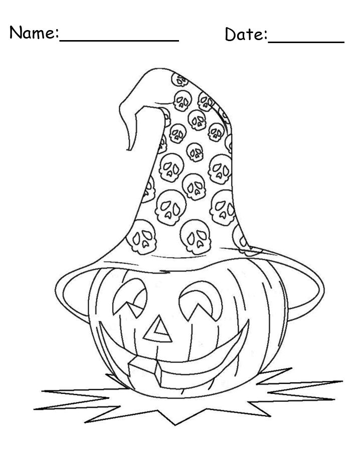 720x910 Enjoy Halloween With Halloween Themed Coloring Pages And Crafts