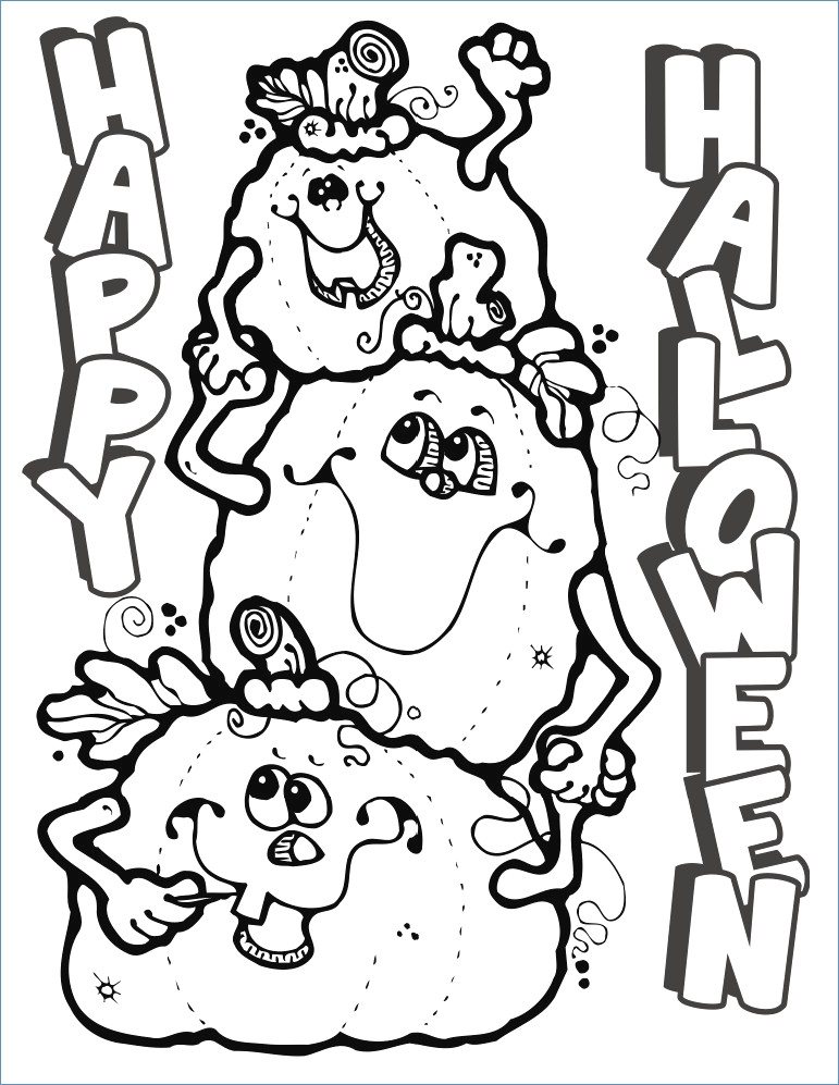 771x997 Halloween Coloring Pages Crafts