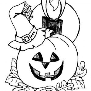 300x300 Halloween Decorations Coloring Sheets