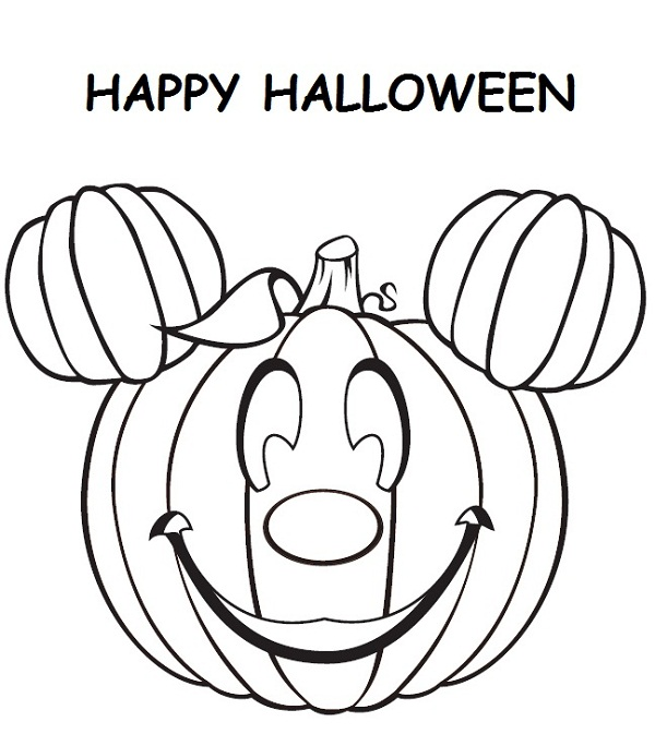 600x673 Halloween Coloring Pages Disney Printable Coloring Kids