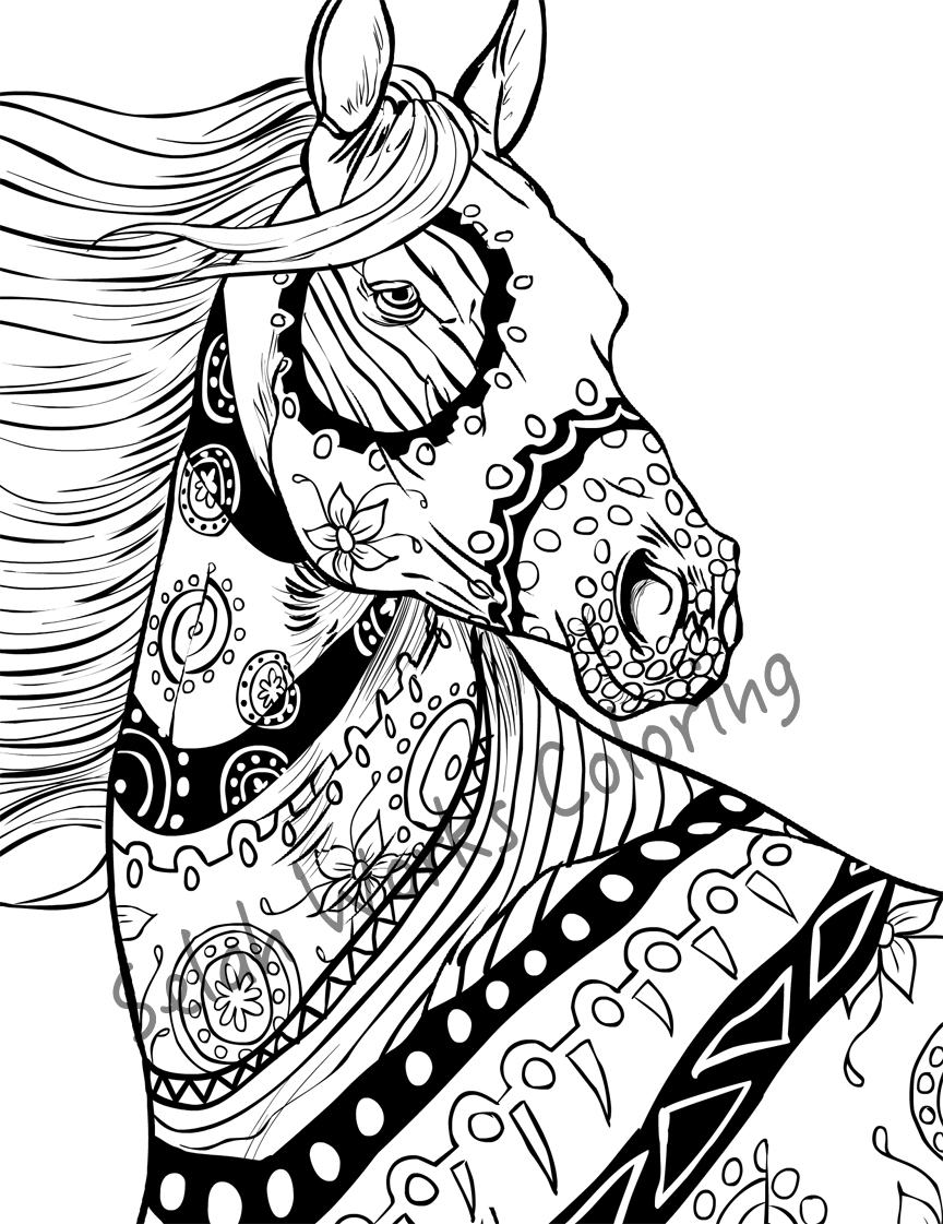 Halloween Horse Coloring Pages At Getdrawings Com Free For