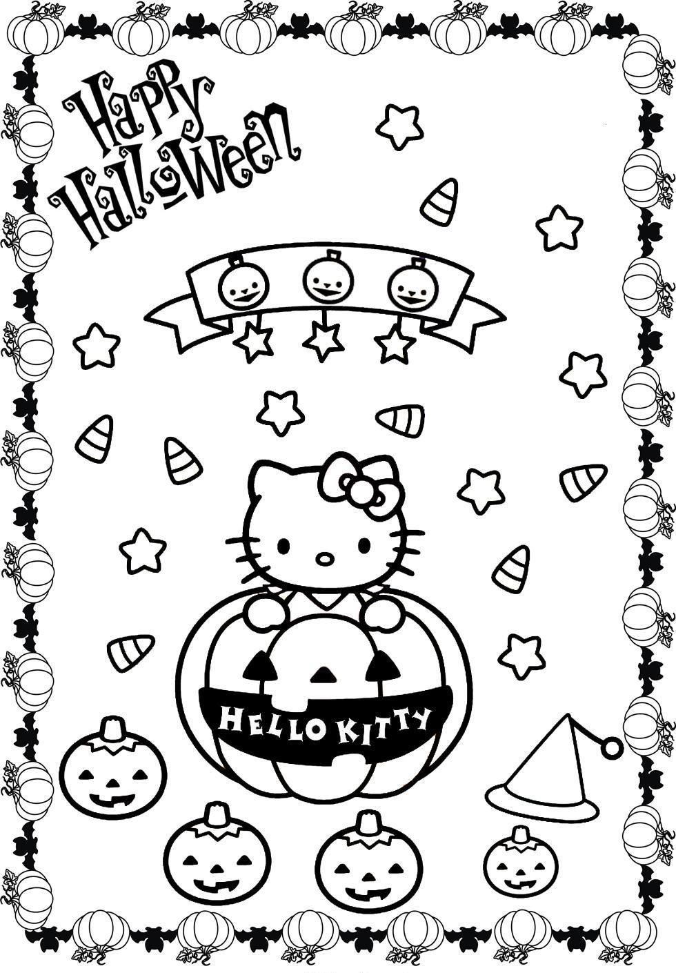 980x1410 Hello Kitty Halloween Coloring Pages Kitty Coloring Pages