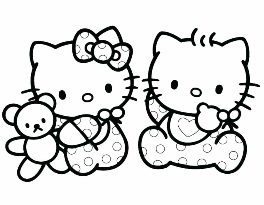 Halloween Kitty Coloring Pages At Getdrawings Com Free For