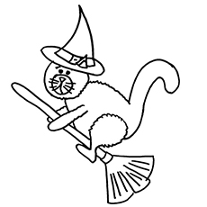 230x230 Top Free Printable Halloween Cat Coloring Pages Online