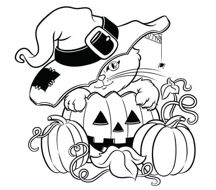 736x647 Cat Coloring Page Free Printable For Kids Halloween Black Sheets