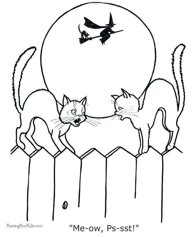 670x820 Halloween Cat Coloring Page Cats Coloring Pages Witch Coloring