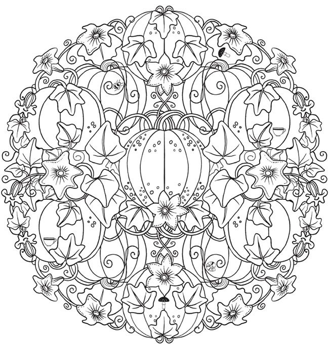 Halloween Mandala Coloring Pages At Getdrawings Com Free For