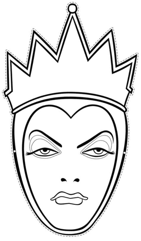 Halloween Mask Coloring Pages