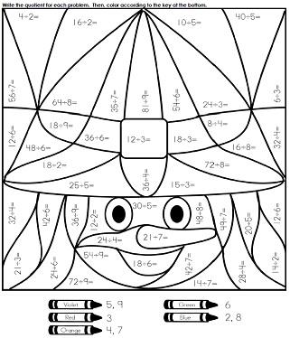 321x374 Halloween Math Coloring