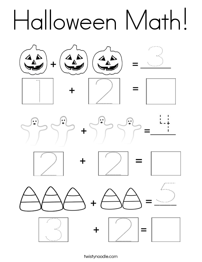 685x886 Halloween Math Coloring Page