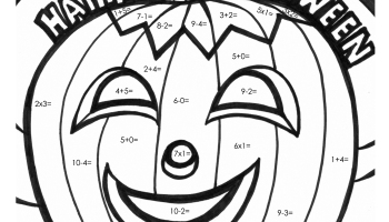 350x200 Halloween Math Coloring Worksheets Color Bros