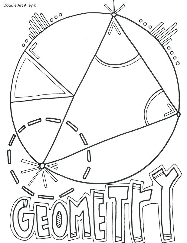 618x800 Mathematics Classroom Doodles Geometry Orig Free Printable
