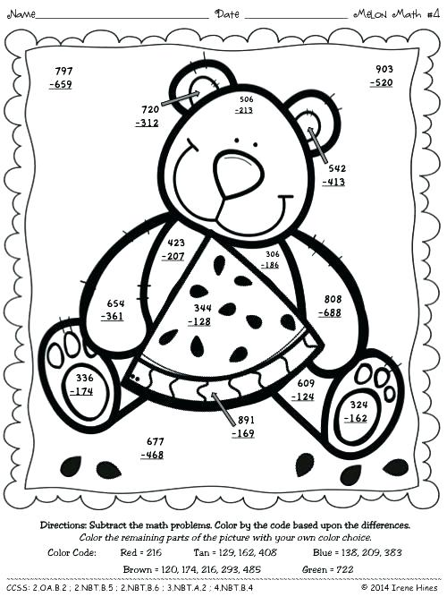 500x667 Multiplication Coloring Sheets Color