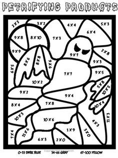 236x314 Free Halloween Multiplication Work Sheets