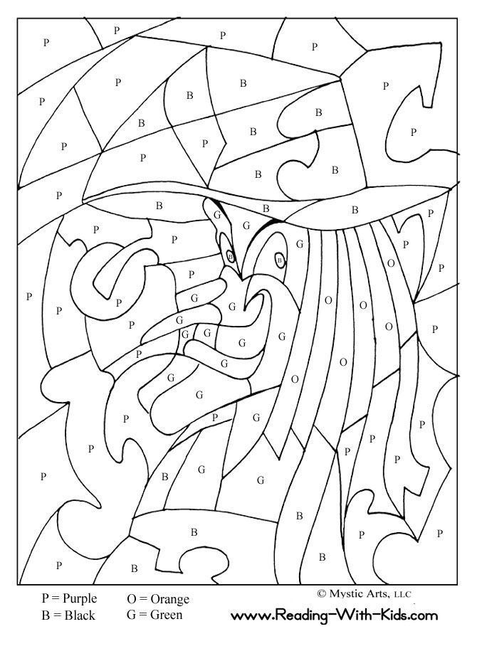 670x922 Halloween Math Coloring Pages Halloween Color Free