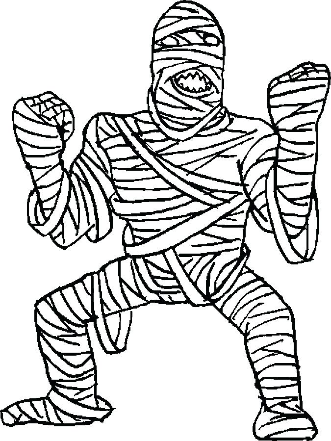 675x899 Mummy Coloring Pages Halloween Medium Size Of Mummy Coloring Pages