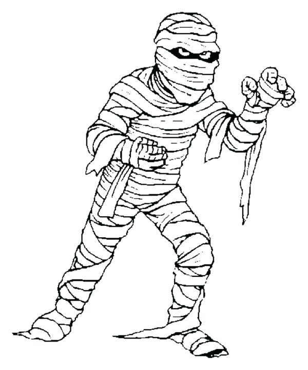 600x719 Mummy Coloring Pages Halloween Mummy Coloring Pages Print Free