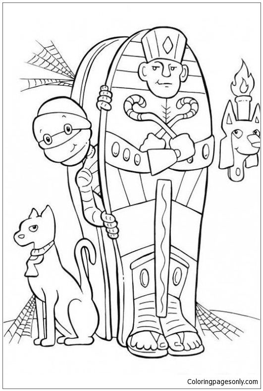 531x788 Mummy Coloring Pages Mummy Halloween Coloring Page Http