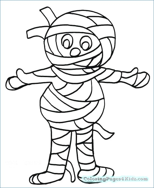 494x600 Mummy Costume Halloween Coloring Pages