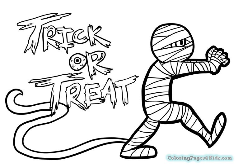 765x539 Cute Halloween Mummy Coloring Pages Coloring Pages For Kids