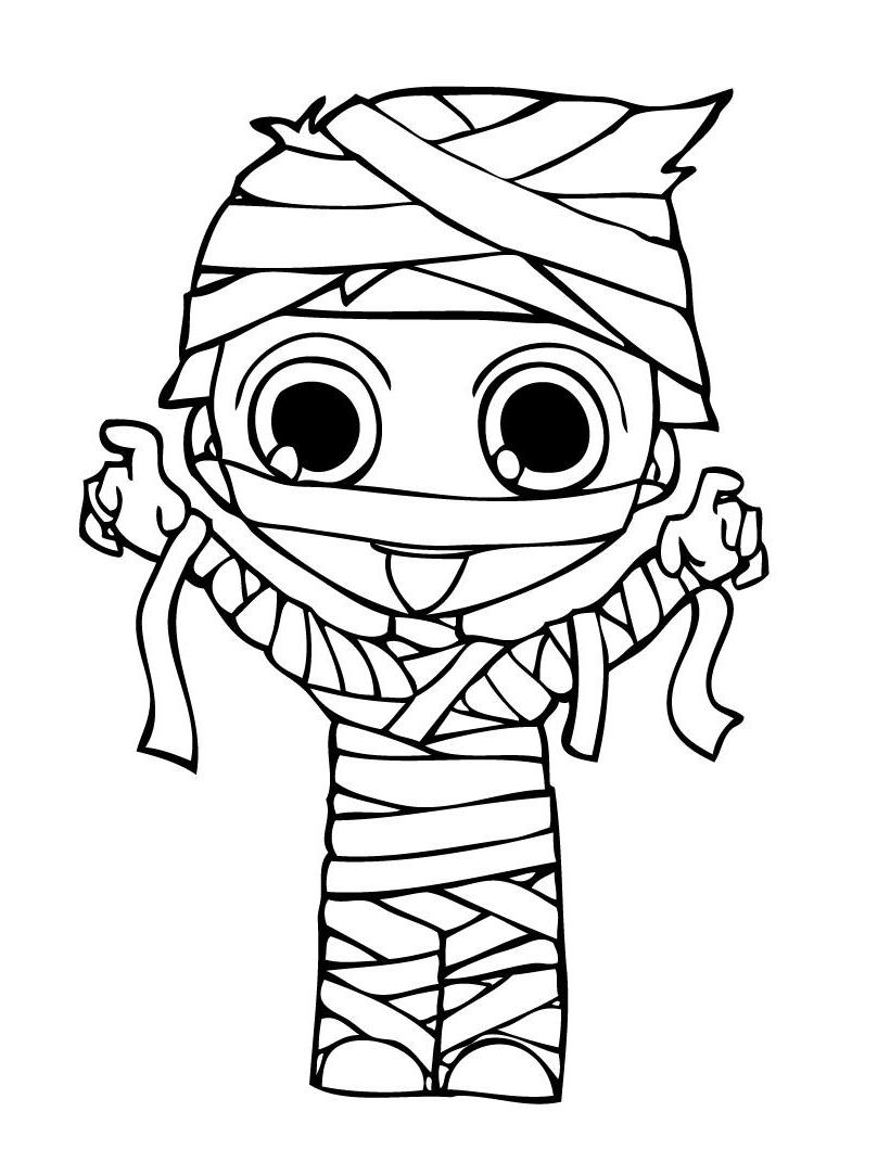 820x1060 Now Mummy Coloring Pages Halloween Page Festival Collections