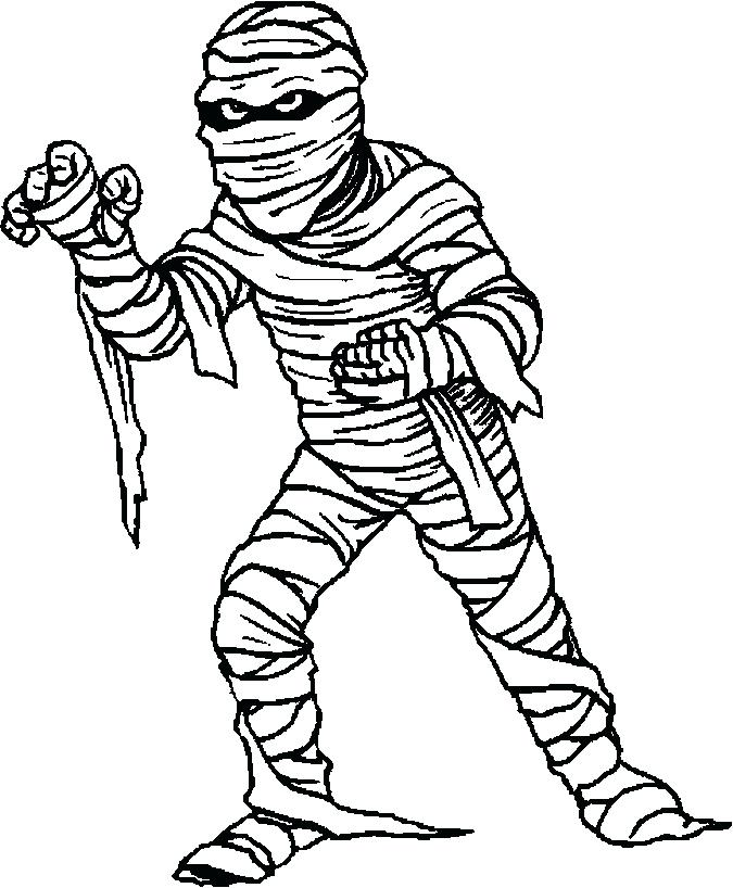 675x818 Mummy Coloring Pages Halloween