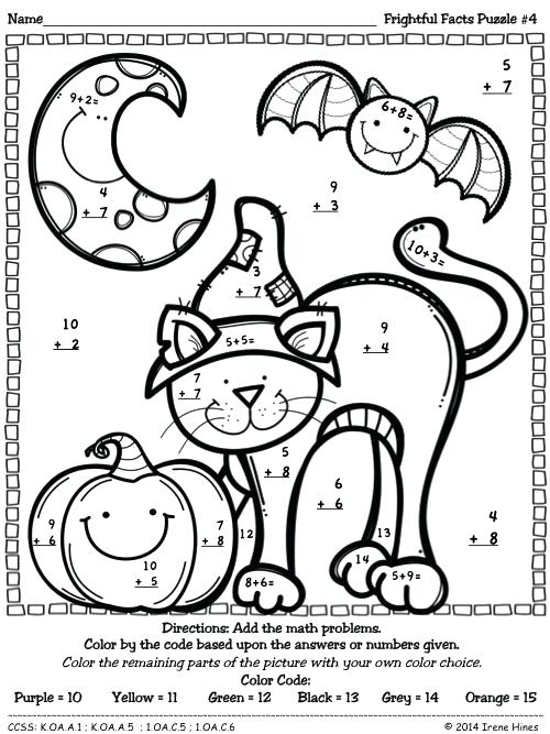 Halloween Number Coloring Pages