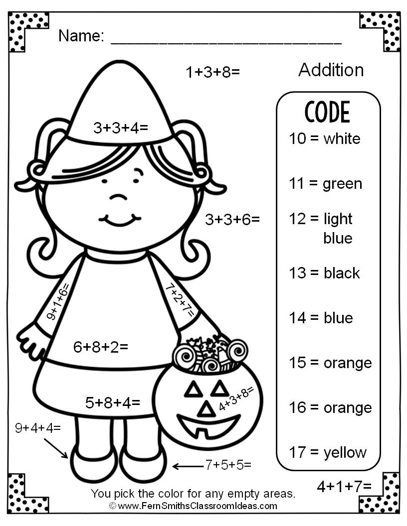 graphic regarding Halloween Color by Numbers Printable titled Halloween Range Coloring Webpages at  Free of charge