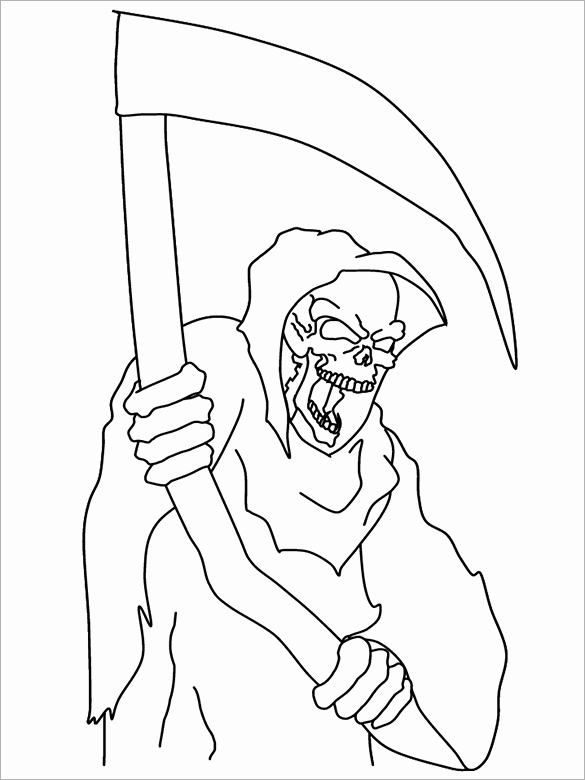 585x780 Halloween Coloring Pages Free Printable Word Pdf Png