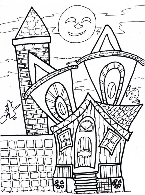 574x772 Halloween Party Coloring Page Coloring Pages Kids