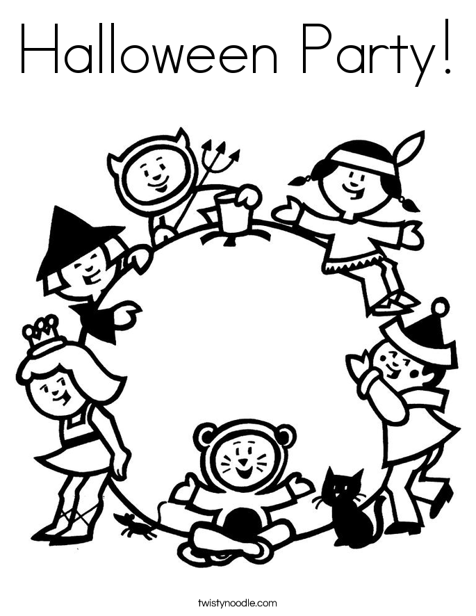 685x886 Halloween Party Coloring Pages