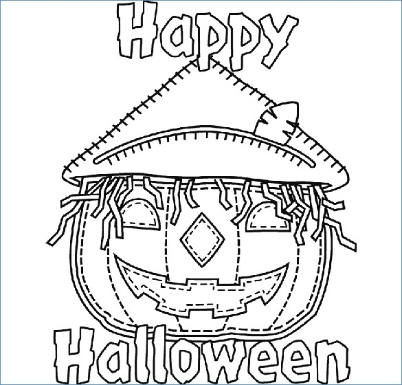 585x560 Halloween Party Coloring Pages