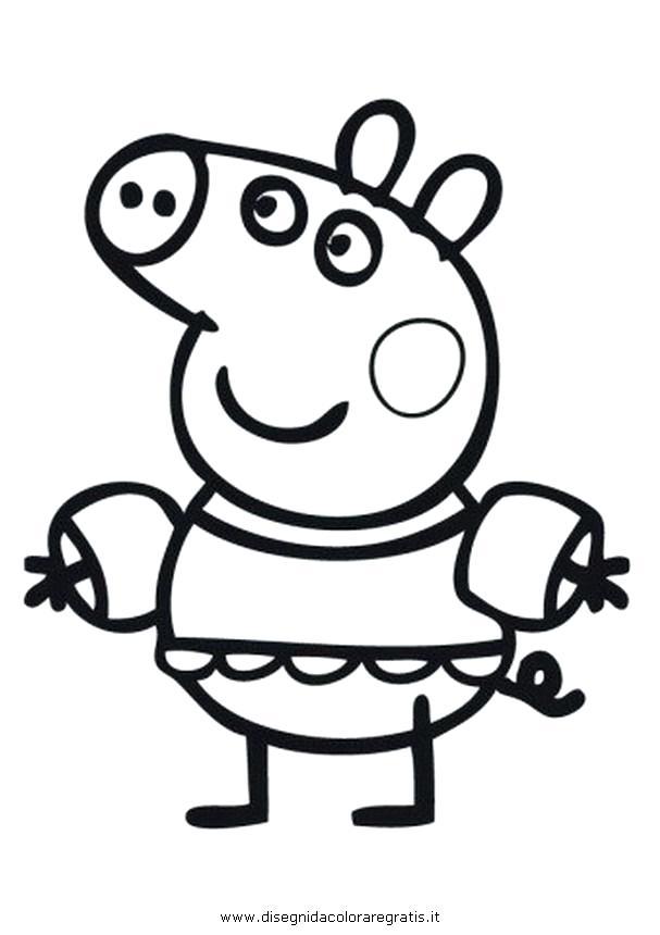 607x860 Peppa Pig Halloween Para Colorear Explore Pig Party Pig Coloring