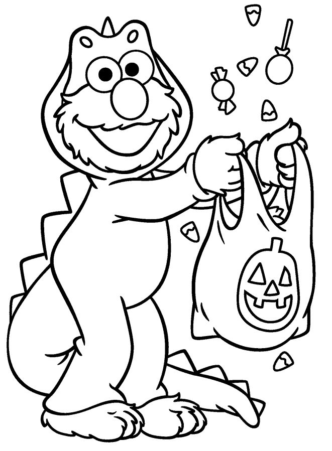 661x899 Sesame Street Halloween Coloring Pages
