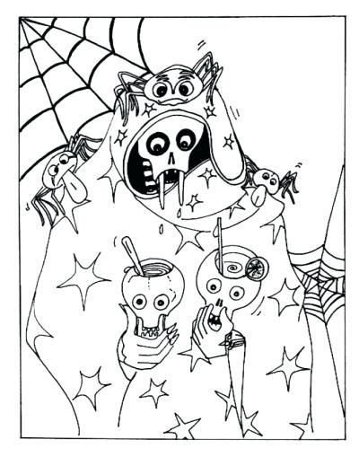 400x509 Halloween Horror Coloring Pages