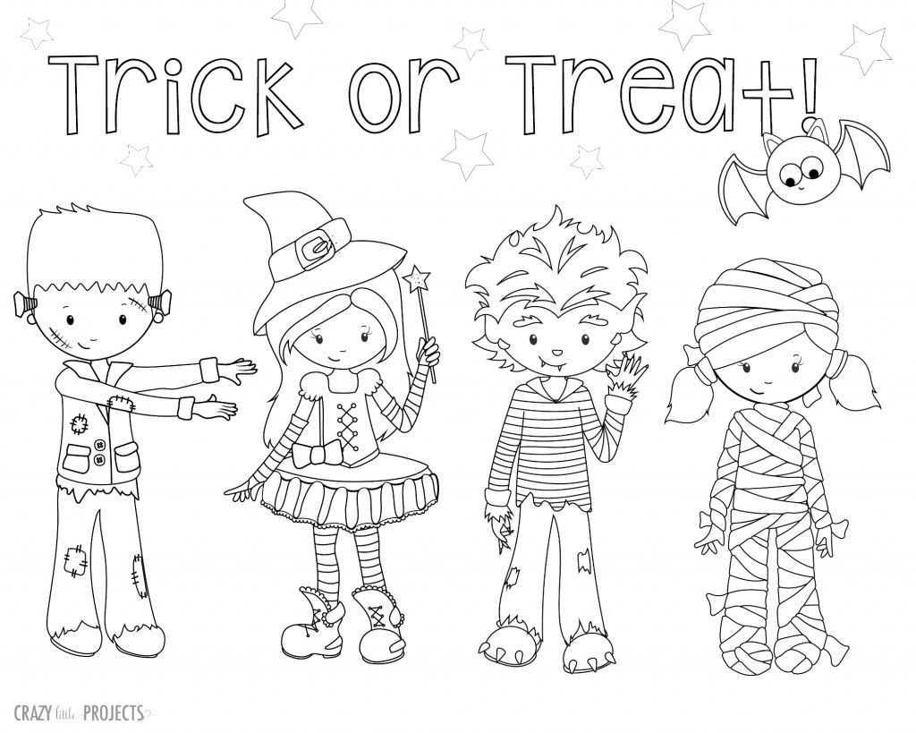 1024x819 Cute Free Printable Halloween Coloring Pages Halloween Coloring