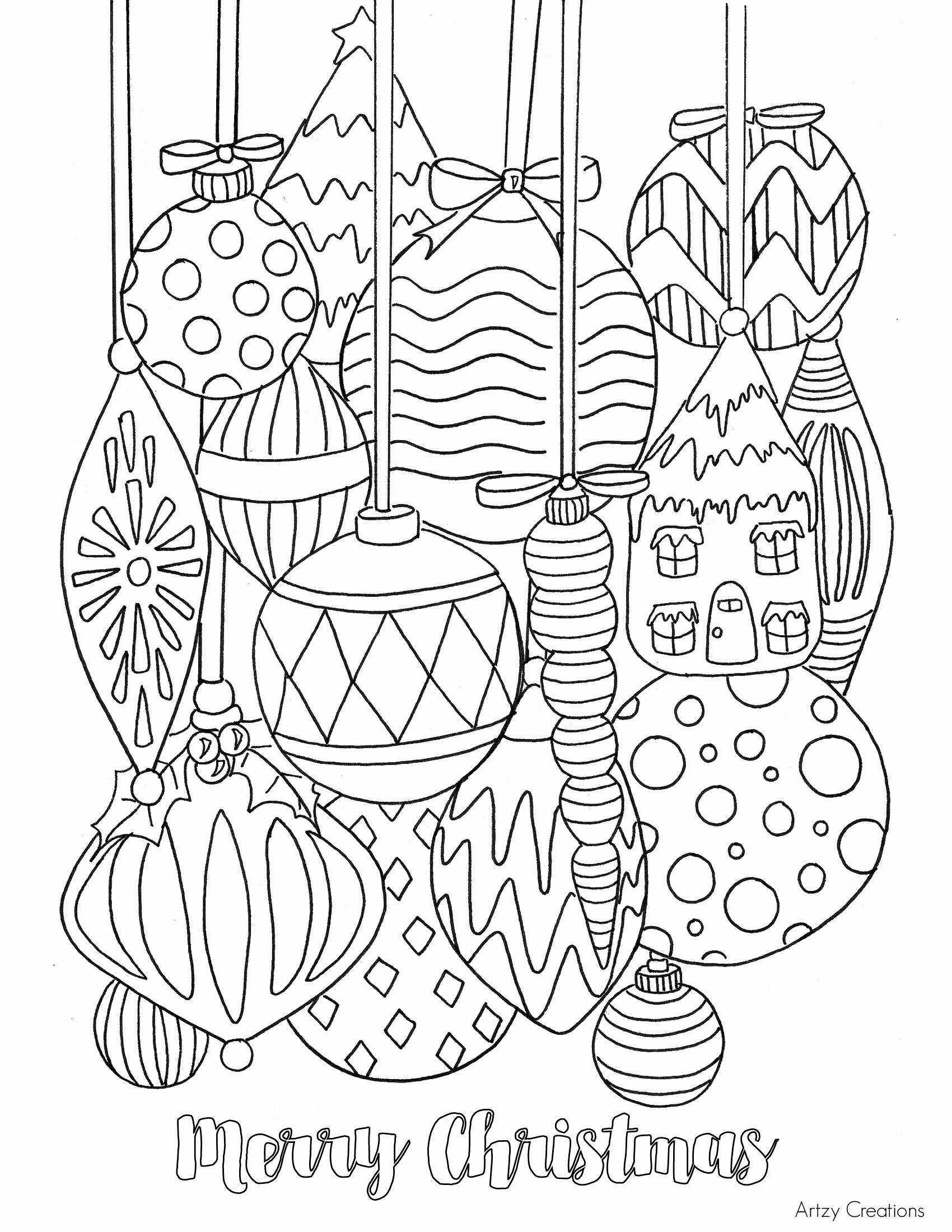 1700x2200 Free Christmas Ornament Coloring Page Tgif This Grandma Is Fun